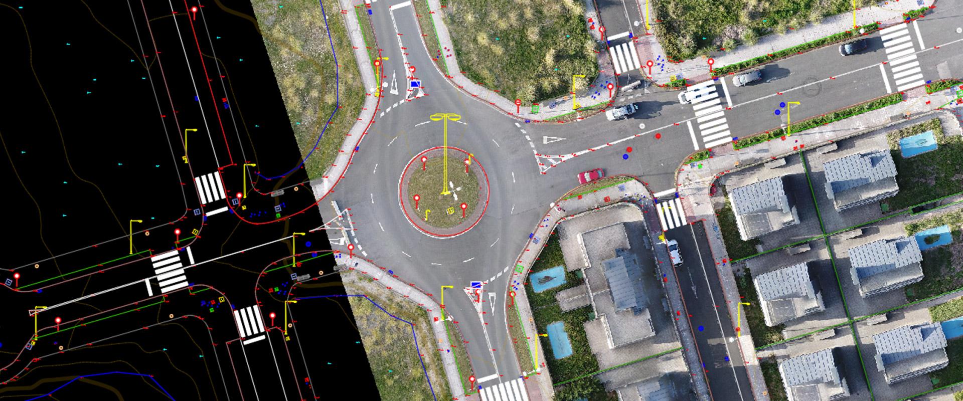 plano obtenido a partir de un vuelo fotogrametrico hecho con dron