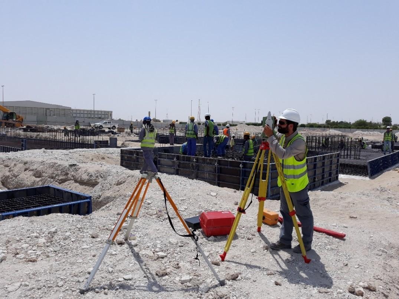 topografia para asistencia tecnica de obra en abu dhabi